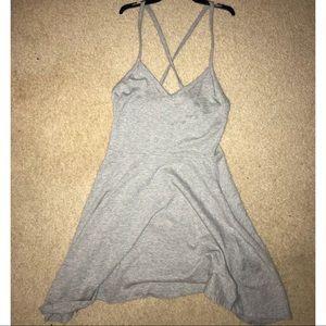 Gray cross back dress